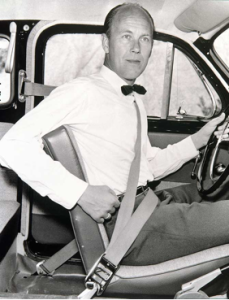 Nils Bohlin, inventor of the three-point seatbelt, received a gold medal from the Royal Swedish Academy of Engineering Science in 1995 and, in 1999, was inducted into the Automotive Hall of Fame.